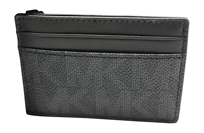 fedc589b9637 MICHAEL KORS MEN MONEY CLIP CARD CASE (Black PVC): Amazon.ca ...