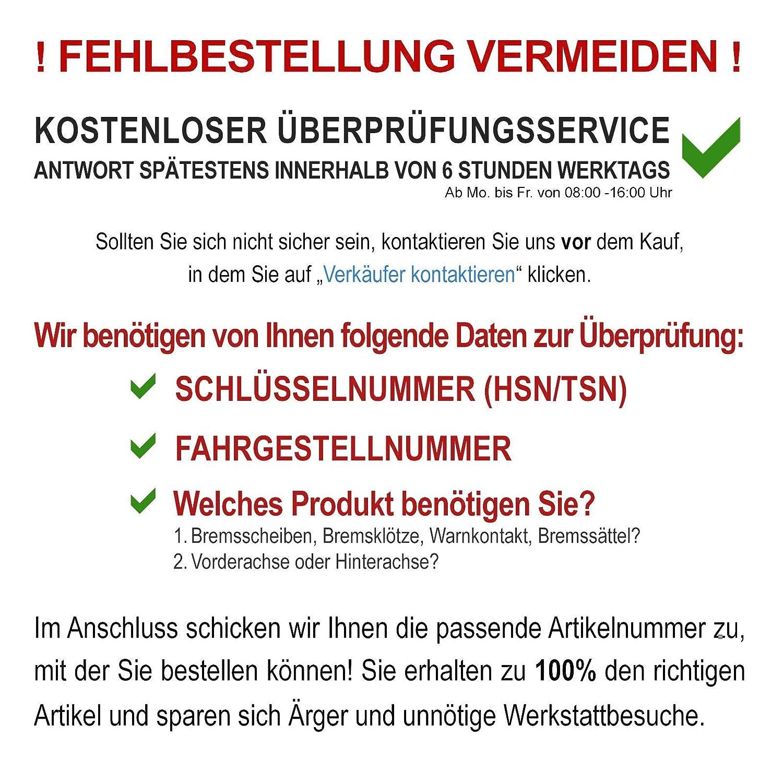 HINTEN NB PARTS GERMANY 10040955 BREMSSCHEIBEN 4-LOCH BREMSBEL/ÄGE VORNE