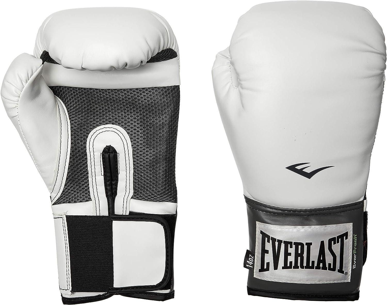 Everlast los Guantes de Boxeo Entrenamiento Estilo Profesional Blanco: Amazon.es: Deportes y aire libre