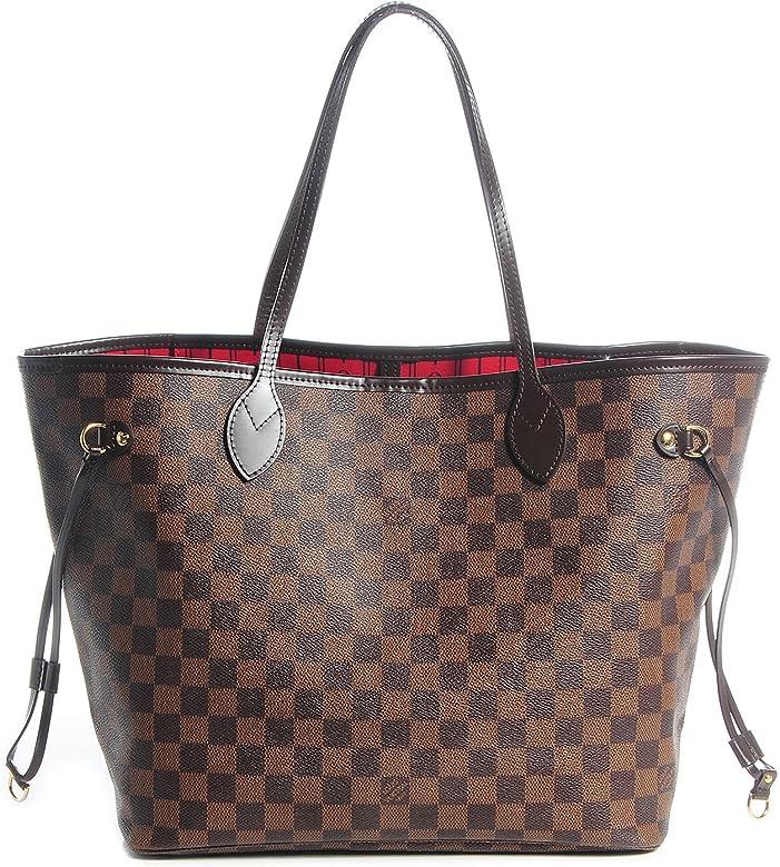 2ba8c109c5a0 Neverfull Style Canvas Woman Organizer Handbag Damier Tote Shoulder Fashion  Bag MM Size by LAMB  Amazon.ca  Shoes   Handbags
