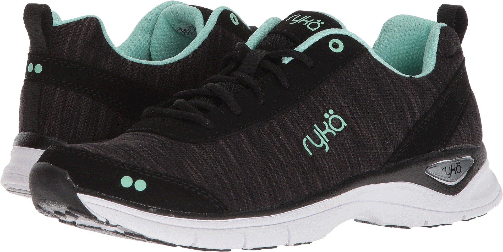 Ryka Women's Rayne Walking Shoe, Black/Mint, 8 M US