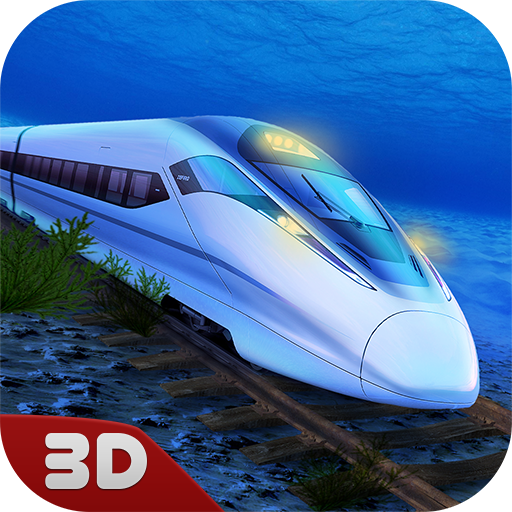 Underwater Train Racing Simulator 3D: Train Station Cargo Transport | Passenger Picking Train Delivery Wagon Game (Underwater Train)
