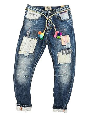 9f6e2cce50ec2d Jeans xs Reißverschluss Wiya Stretch Damen Dy297 Hose Freizeithose Bnn41xv7