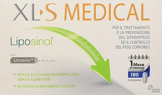 27 opinioni per XL-S Liposinol Prodotto per il Trattamento del Sovrappeso, 1 Mese, 180 Compresse