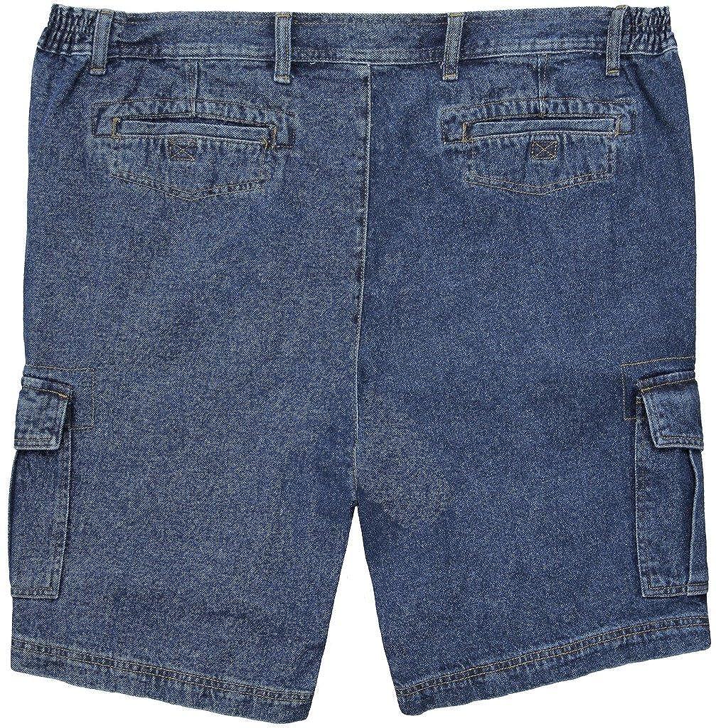967d4d9320 FB Big Men's Denim Cargo Shorts with Expandable Waistband | Amazon.com