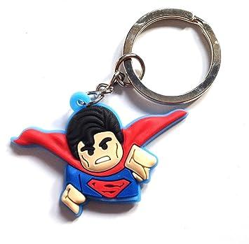 Llavero de PVC de alta calidad con diseño de Superman de