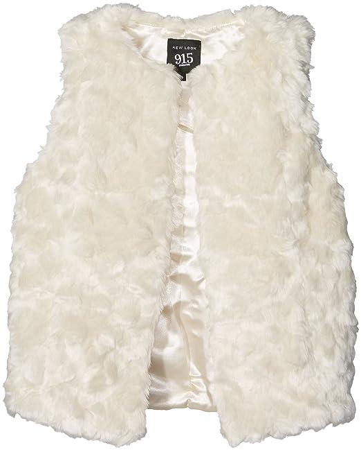 New Look Brisbane Faux Fur Gilet, Abrigo para Niñas, Marfil (Cream), 9 Años: Amazon.es: Ropa y accesorios