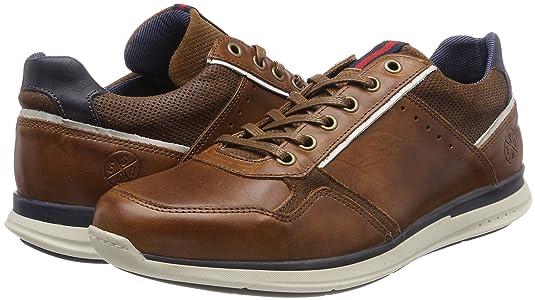6718A, Sneaker Uomo, Marrone (Cognac Prco), 45 EU Bullboxer