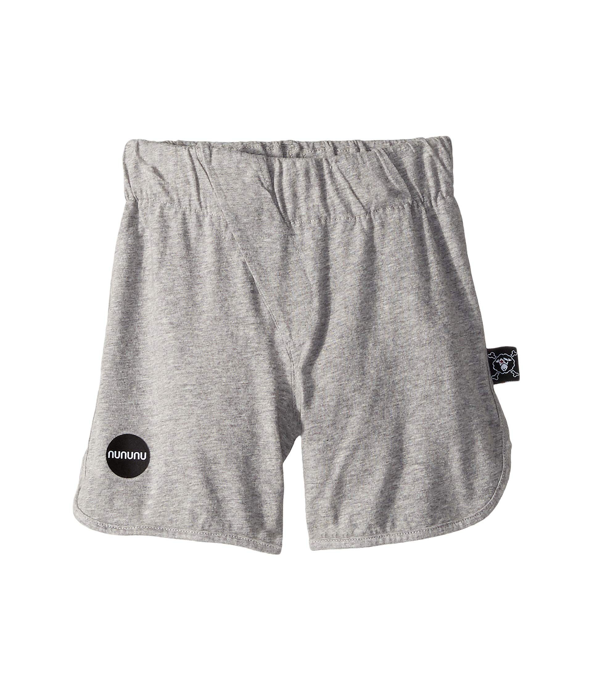 NUNUNU Baby Boy's Diagonal Light Shorts (Toddler/Little Kids) Heather Grey 2-3 Years