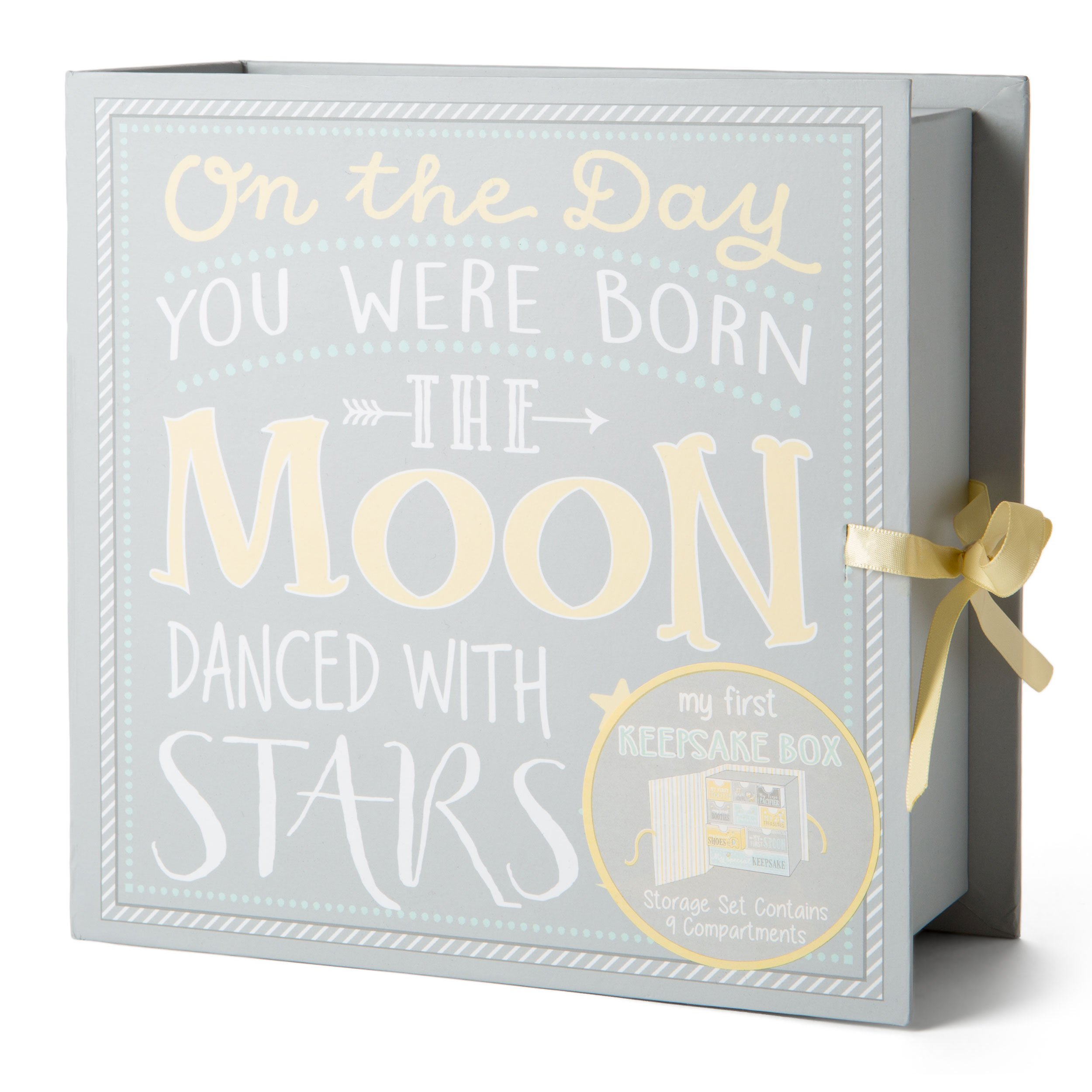 TCD Baby Keepsake Boxes - Various Designs (Moon & Stars)