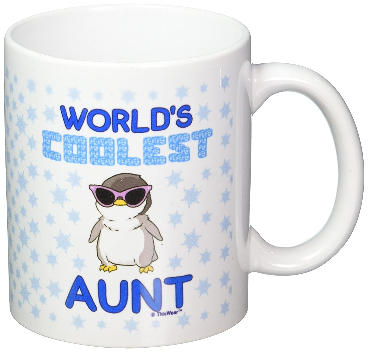 Amazon.com: Mother\'s Day Gifts World\'s Coolest Aunt Penguin Gift ...