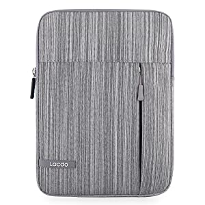 Lacdo iPad Mini Case, iPad Mini 4 Sleeve, Water Repellent Tablet Sleeve Compatible iPad Mini 4/3/2, Samsung Galaxy Tab A 8-Inch/ASUS ZenPad Protective Bag, Gray