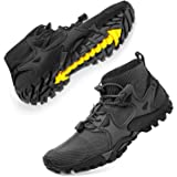 SOBASO Mens Hiking Shoes Hiking Shoes Trail Running Shoes Stylish Slip Resistant Fitness Walking Jogging Sock Sneakers