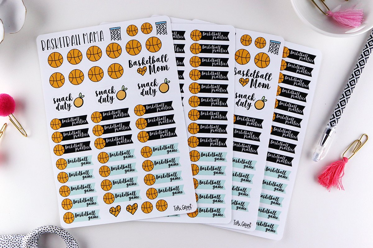 Basketball Mama Planner Sticker Bundle