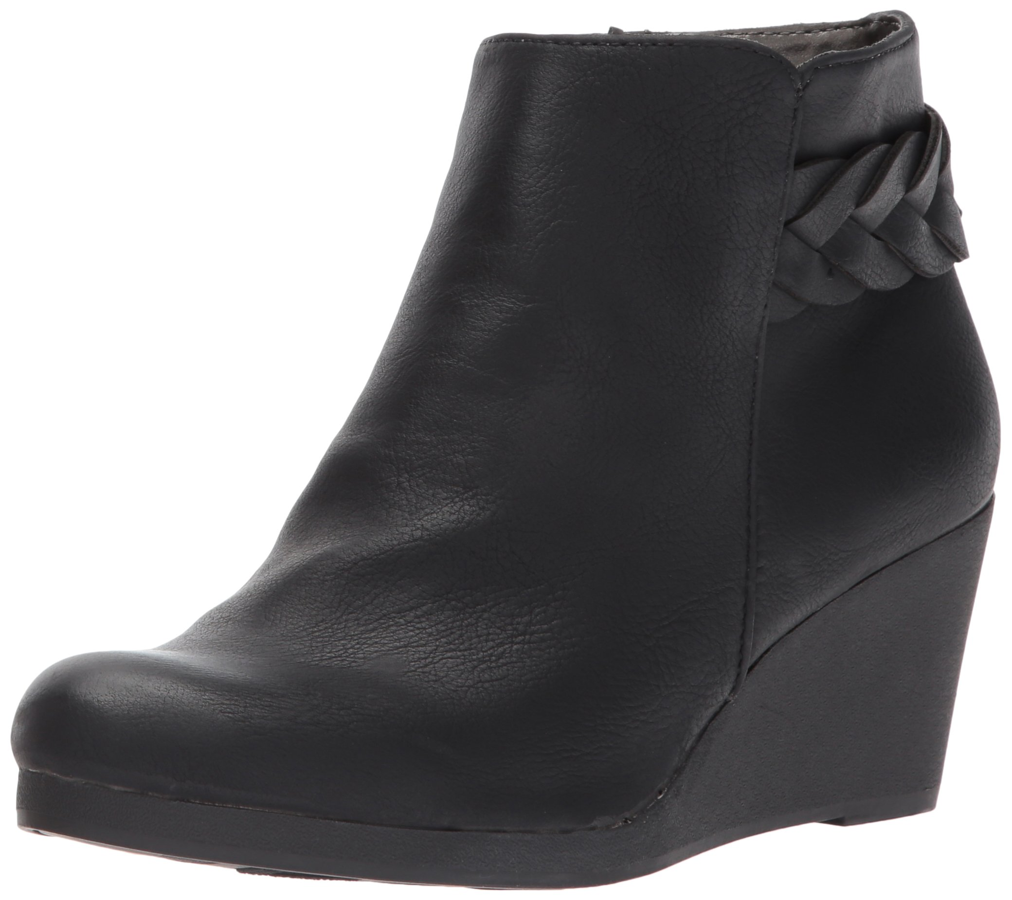 LifeStride Women's Natalia Ankle Bootie, Black, 5 M US