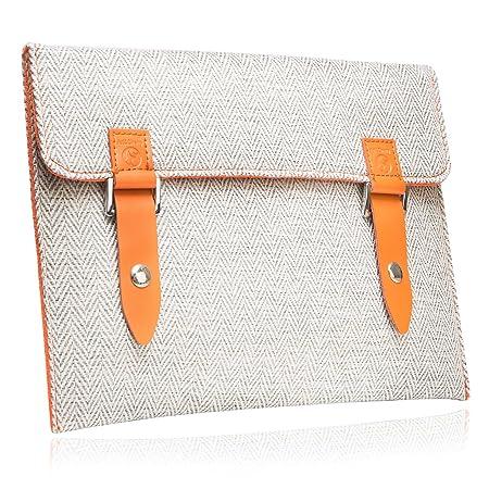"""#DoYourMobile© Tasche/Schutzhülle für eBook-Reader (eReader) - Tweedstoff in der Größe L 18 x B 14,4cm / 5,8 – 6,2"""" mit edlem"""