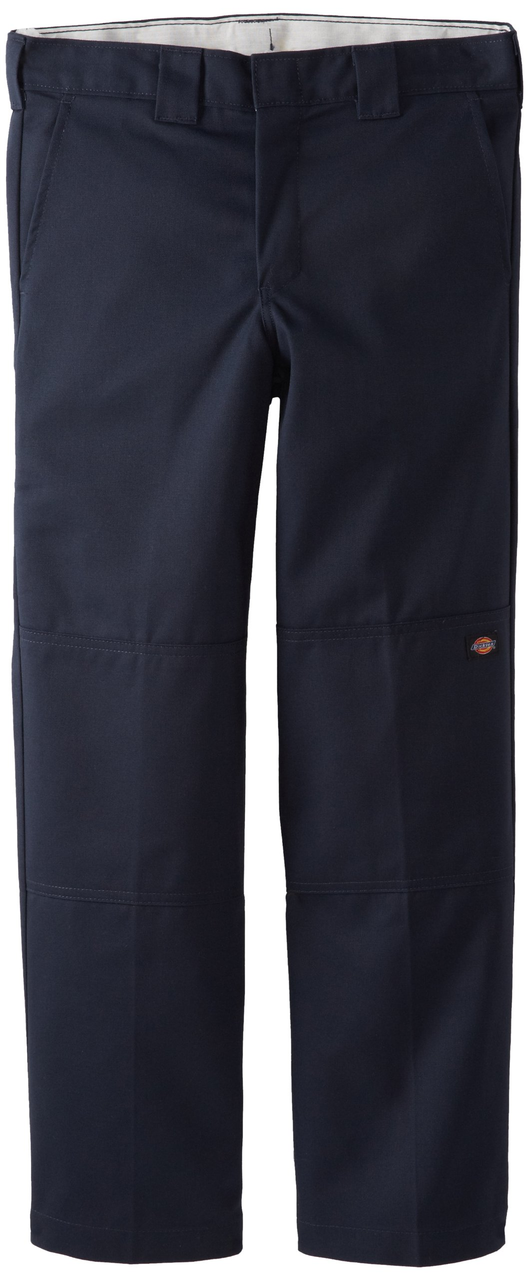 Dickies Big Boys' Flex Waist Double Knee Pant With Extra Pocket, Dark Navy, 18 Husky by Dickies (Image #1)