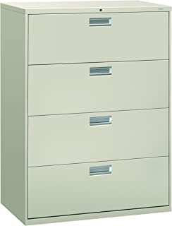 product image for HON 694LQ 600 Series 42-Inch by 19-1/4-Inch 4-Drawer Lateral File, Light Gray