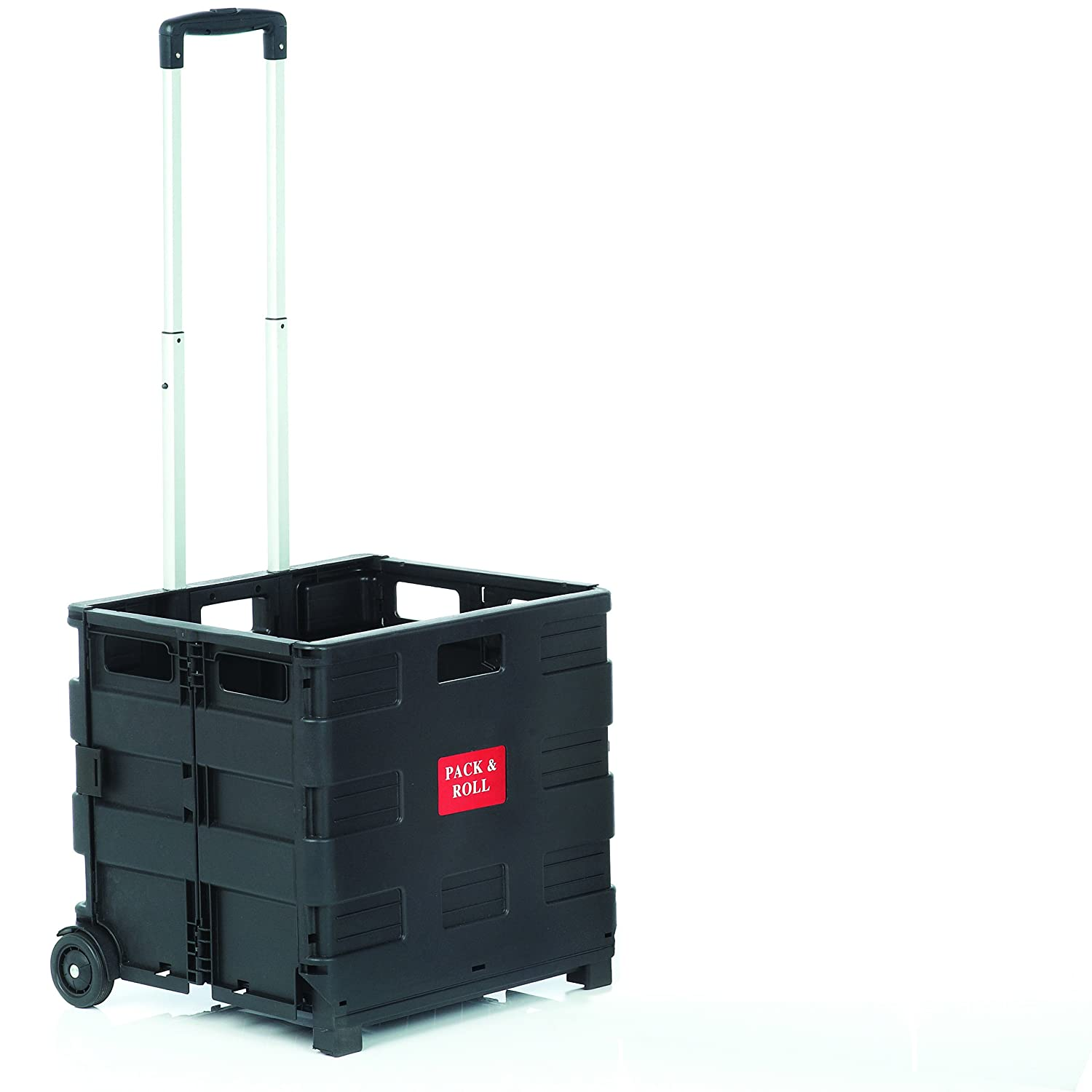 Seco, ZY-LC-BK - Large Collapsible Trolley, Utility Wagon, in Black, Made From PP Material, with A 35Kg Weight Capacity, Overall Size 420 x 405 x 380 mm Stewart Superior YZ8037