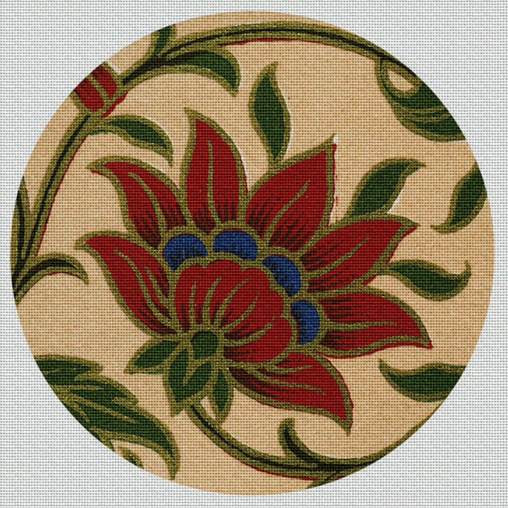 Art Needlepoint Flower from India Coaster Needlepoint Kit