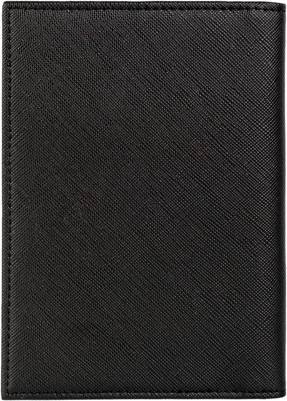 Passport Holder Cover Wallet RFID Blocking Leather Card Case Travel Accessories for Women Men Cross pattern black