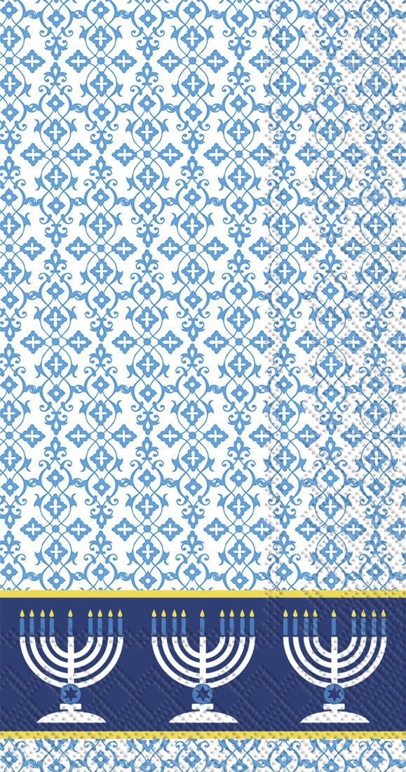 Blue Ideal Home Range 16-Count Festival Of Lights Paper Guest Towel Napkins