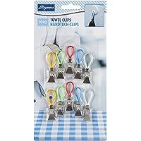 Pack of 10 Kitchen Tea Towel Storage Clip Clips Holder Hanger