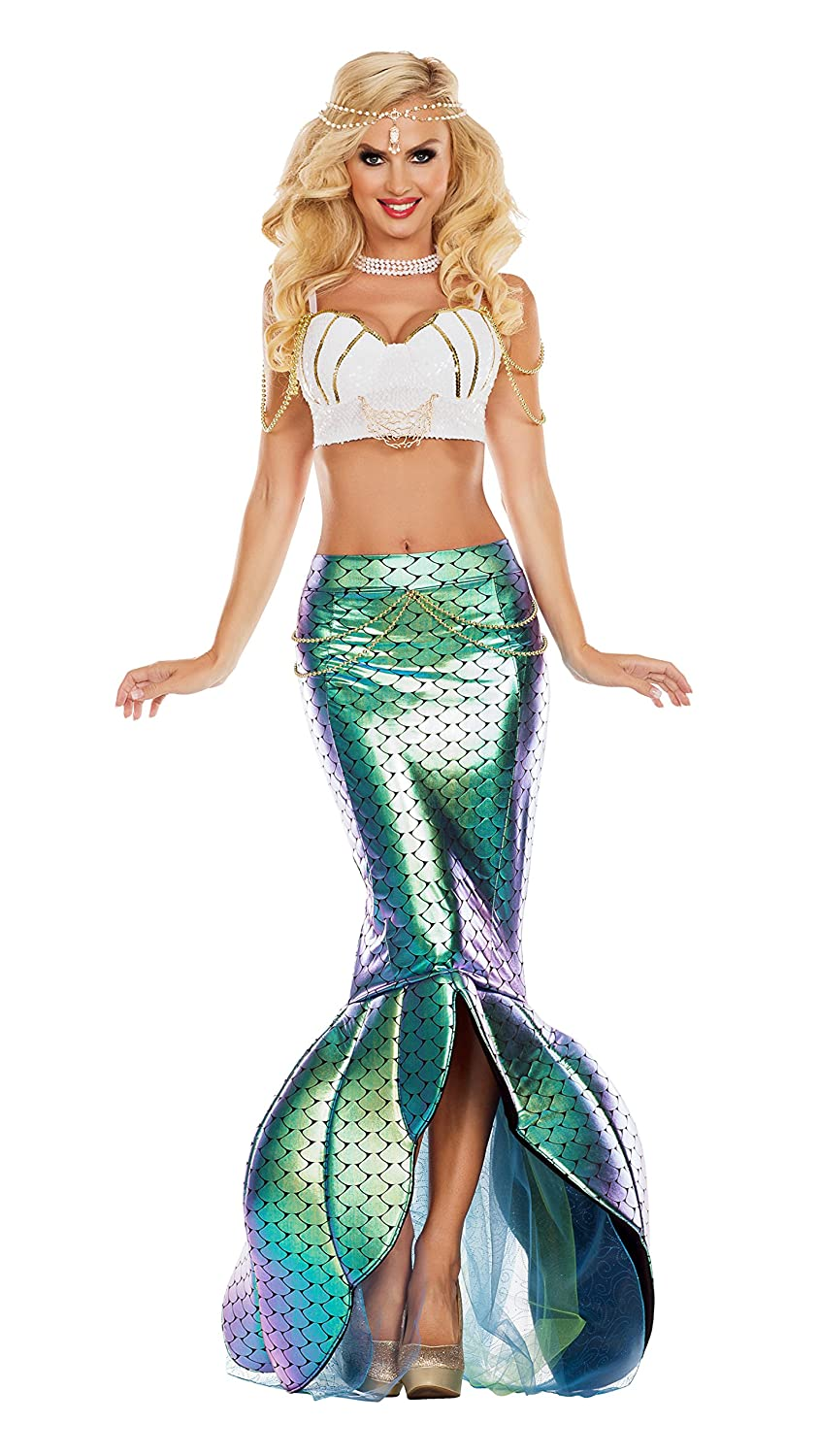 Women's Under The Sea 2-Piece Mermaid Costume - DeluxeAdultCostumes.com
