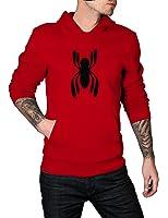 MARVEL SPIDER-MAN Black Spider LOGO Hoodie