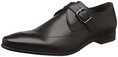 Hush Puppies Men s Swanky Monk Black Leather Formal Shoes - 10 UK India (44 64fcfc8ef0