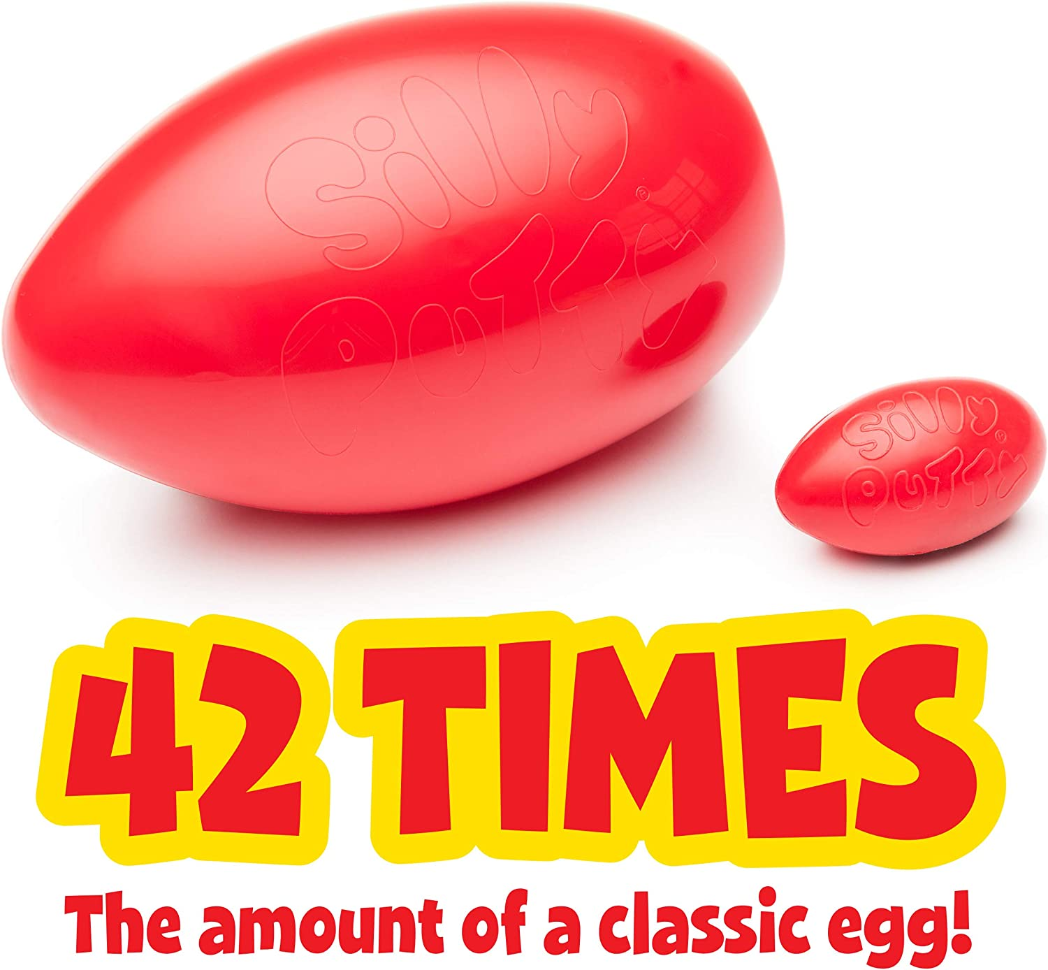 Fidget Toy Gift for Kids Crayola Silly Putty Giant Red Egg 1Lb
