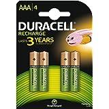 Duracell Recharge Plus Piles Rechargeables type AAA 750 Mah, Lot de 4