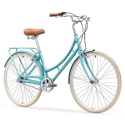"sixthreezero Ride In The Park Women's 3-Speed Touring City Bike, 700x32c Wheels/ 17"" Frame, Teal, 17""/One Size best touring bikes"