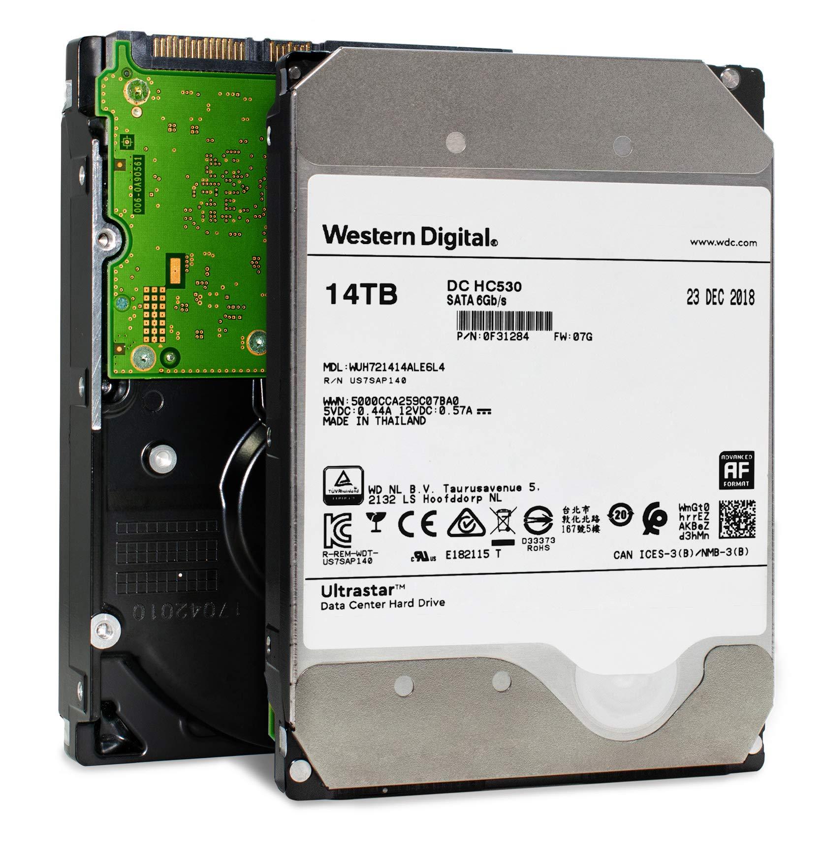 Western Digital 14TB Ultrastar DC HC530 SATA HDD - 7200 RPM Class, SATA 6 Gb/s, 512MB Cache, 3.5'' - WUH721414ALE6L4