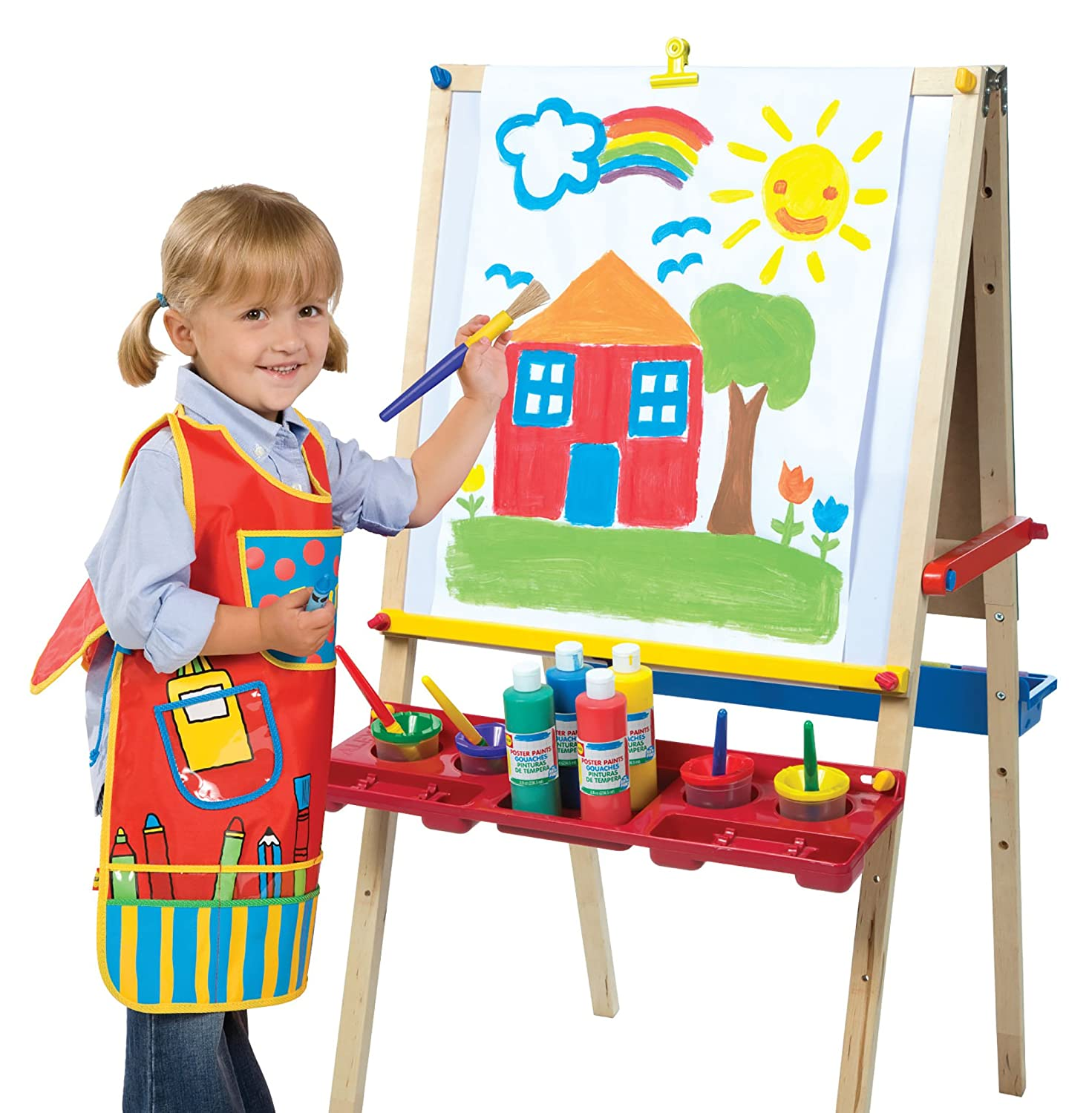 amazoncom alex toys artist studio ultimate easel accessories toys games - Picture For Kid Painting