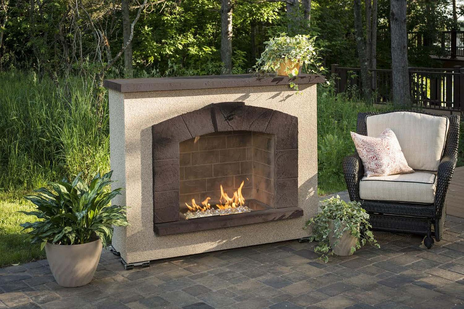 gas fireplace outdoor. amazon.com : outdoor great room stone arch gas fireplace with stucco finish garden \u0026