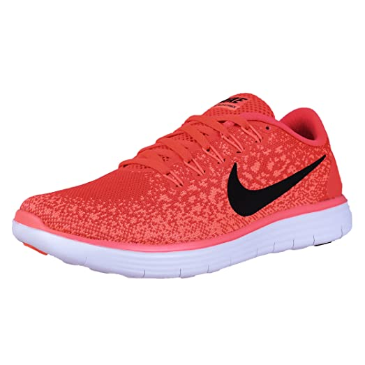 NIKE WOMENS FREE RN DISTANCE RUNNING SHOES BRIGHT CRIMSON BLACK 827116 600