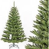 FAIRYTREES künstlicher Tannenbaum FICHTE NATUR, Baumstamm grün, Material PVC, inkl. Metallständer, 150cm