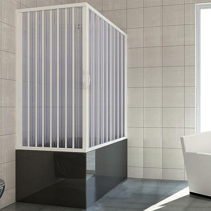 RL Mampara de bañera 70x140 CM de PVC Mod. Nadia con Apertura ...