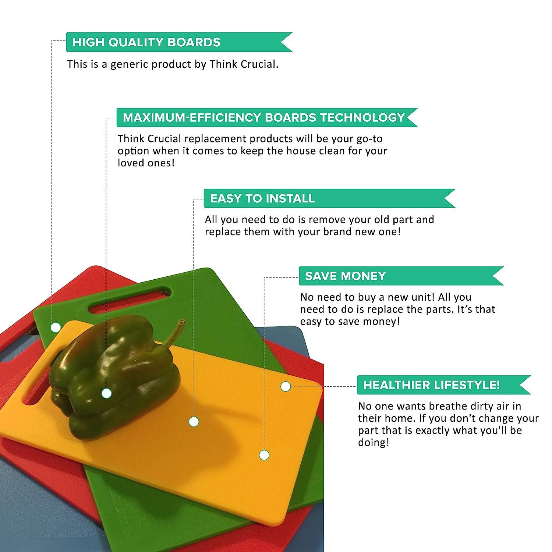 1-6x10 2-10x13.5 Think Crucial 4 Durable Kitchen Cutting Board Set 1-8x12