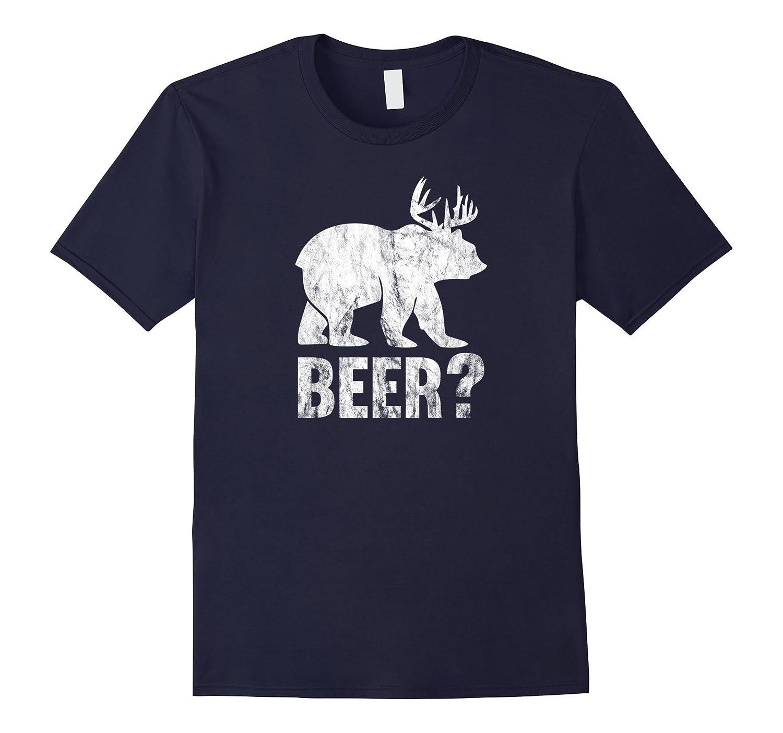 Bear Deer Beer Funny Vintage T-Shirt-FL