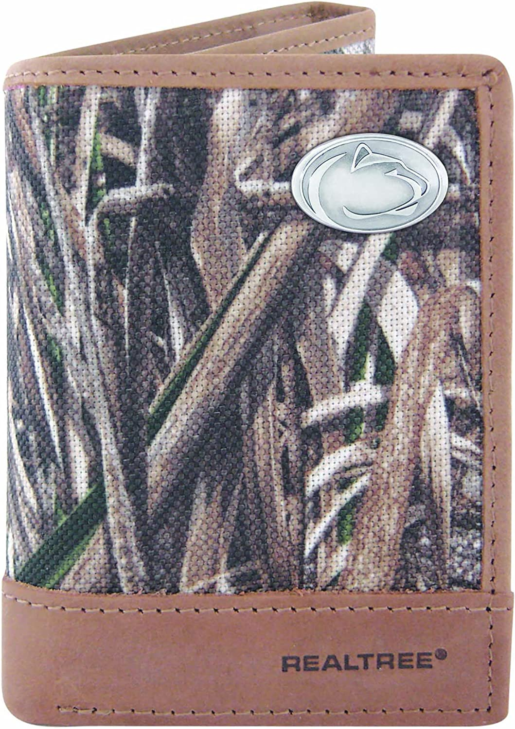 Camouflage ZEP-PRO Lsu-iwnt2-rt NCAA Lsu Tigers Zep-Pro Realtree Nylon and Leather Trifold Concho Wallet