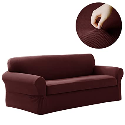 Amazoncom Maytex Pixel Stretch 2Piece Sofa Furniture Cover