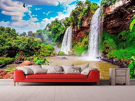 Fotomural Vinilo para Pared Paisaje Cascadas Argentina | Fotomural para Paredes | Mural | Vinilo Decorativo | Varias Medidas 100 x 70 cm | Decoración comedores, Salones, Habitaciones.: Amazon.es: Hogar