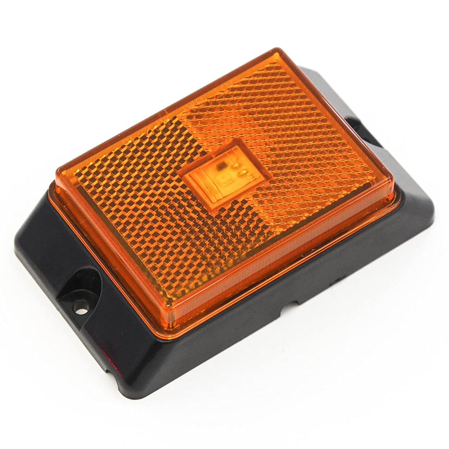 Red Hound Auto 1 Amber LED Side Marker Light 4 Truck Trailer Pickup Boat Bright