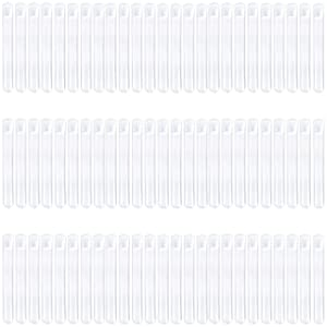75-Pack Plastic Test Tubes with Lids - 12.5 x 98 mm Clear Plastic Vials, 7.5ml Sample Tubes for Craft, Scientific Experiment