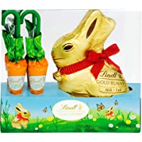 Lindt Easter Gold Bunny & Carrots Milk Chocolate, Gift Box (1 x 100g + 4 x 13.5g), 154g, 154 Grams