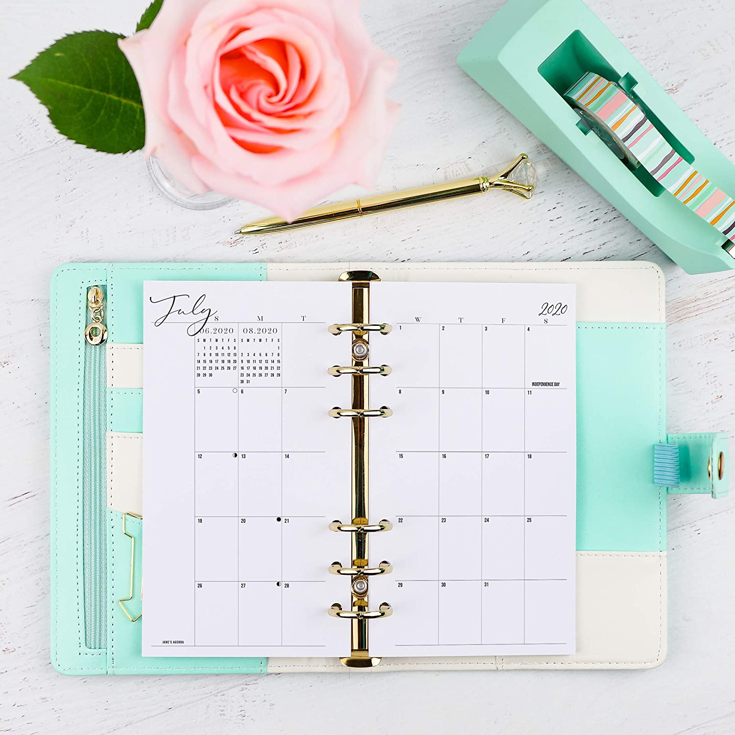 2020 Dated Weekly Refill Pages for Personal Size Ring Bound Systems Monthly Planner Inserts Planner not included 3.75x6.75 inches Size 2