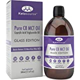 Premium C8 MCT Oil | Boosts Ketones 3X More Than Other MCTs | Highest Purity C8 MCT Available 99.8% | Paleo & Vegan Friendly | Gluten Free | Pure Caprylic Acid | Ketosource® (17.6oz Glass)