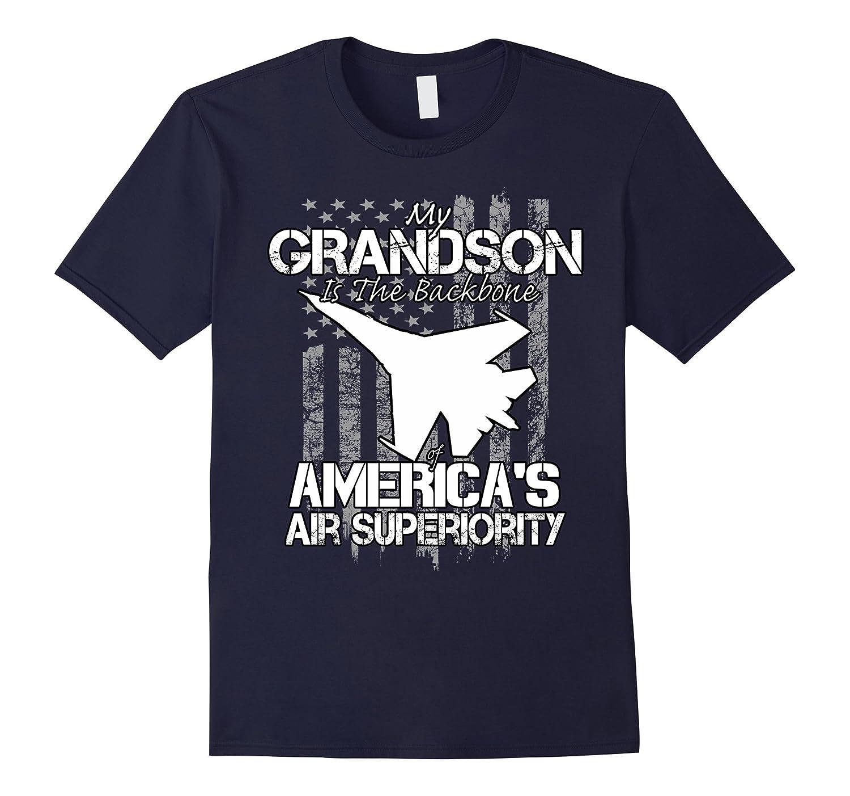 Airman Grandson military pilot protects America tshirt-Vaci